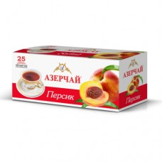 Чай черный в пакетиках для чашки Азерчай Персик, 25*1,8 г