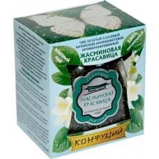 Чай зеленый листовой Конфуций Жасминовая красавица, банка, 75 г