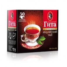 Чай черный в пакетиках для чашки Принцесса Гита Индия, с/я, 50*2 г