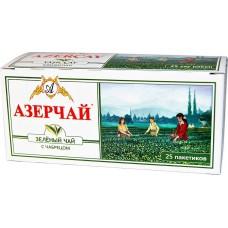 Чай зеленый в пакетиках для чашки Азерчай с чабрецом, 25*2 г